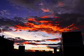 家裡樓頂的火燒雲:DSC_4183.jpg