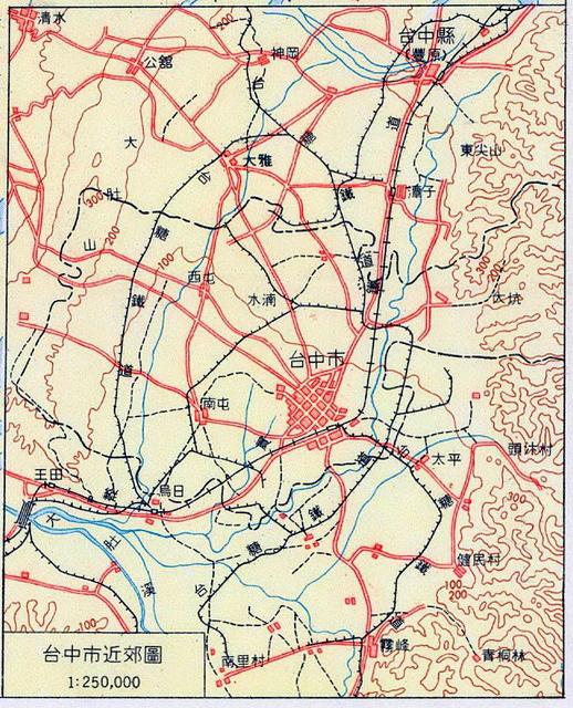 1960-臺中市近郊圖 - Taichung