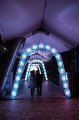 2008亞洲職棒大賽東京自由行_Day.1:夜晚的巨蛋,因為接近聖誕節,所以巨蛋附近都點上燈光了