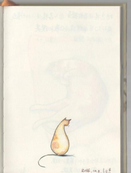 在轉彎處(有空話畫貓36)-原圖 - 有空話畫貓