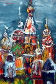 書韻最近油畫:俄羅斯建築...手指油畫