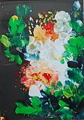 油畫的世界:書韻作品..手指油畫牡丹