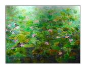 11月油畫作品,敬請指教:荷園深深(91*72.5CM)30F