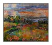 11月油畫作品,敬請指教:框中景(53*45.5CM)10F
