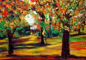 書韻最近油畫:公園...手指油畫