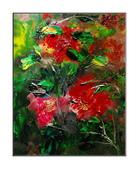 11月油畫作品,敬請指教:牡丹盛開(80*65CM )25M指掌油畫
