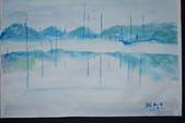 書韻最近油畫:霧中..水中..水彩