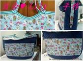 拼布手作包:藍底Kitty與鳥籠肩背包 2