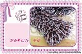 棒針作品:緞帶圍巾 - 多彩咖啡 2