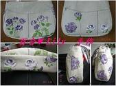 拼布手作包:紫玫瑰肩背包 1