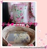 拼布手作包:粉玫瑰水玉小提包-5