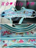 拼布手作包:藍底Kitty與鳥籠肩背包 3