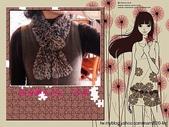 棒針作品:緞帶圍巾 - 多彩咖啡 3