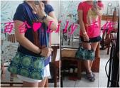 拼布手作包:藍綠花盤3用背袋 7