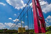 2013-06-08/09_竹崎公園、交力坪車站、瑞里雲海、螢光蕈、海鼠山日出:吊橋(一個人走會怕,所以就拍拍照而已:P) @竹崎親水公園