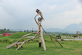 2012-08-11_伯朗大道、泰源幽谷、東河橋、都蘭(國小、糖廠)、杉原、伽路蘭、森林公園:伽路蘭遊憩區裡的漂流木藝術展品
