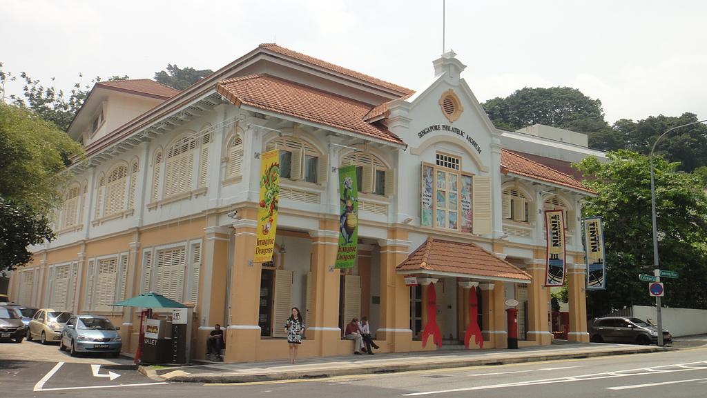 2012-03-24_新加坡第二天,徒步旅行市政區:140707_郵票博物館,那時候應該進去參觀,順便買特別的明信片跟郵票的