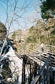 [Film 35] 湯湖溫泉+湯滝+戰場之原_2017年03月21日:在橋上觀賞湯瀑布的先生