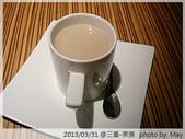 【原燒】三重龍門店-婚前的小聚餐:飲品:我點的是奶茶..當然不是奶茶兩字這麼普通的名字(太久了!真的忘了)