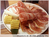 【原燒】三重龍門店-婚前的小聚餐:我的主食:豬&雞..別懷疑!今天的肉就這一盤