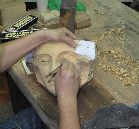 面具擺飾設計 - 木雕教室