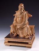 詹志評老師的精緻神佛像系列木雕作品:關公