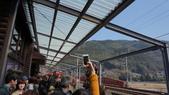 日本自助旅行-----嵐山:火車進站搭的遊客非常多