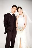 小汞&小夢婚紗照:棚內的第一套--白紗(合照一)
