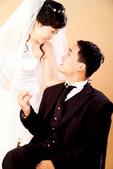 小汞&小夢婚紗照:棚內的第一套--白紗(合照五)