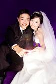 小汞&小夢婚紗照:棚內的第一套--白紗(合照七)