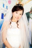 小汞&小夢婚紗照:棚內的第一套--白紗(小夢獨照四)