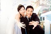 小汞&小夢婚紗照:棚內的第一套--白紗(合照八)