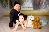 小汞&小夢婚紗照:棚內第二套--蘋果綠晚禮服(合照三)