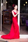 小汞&小夢婚紗照:外拍第二套--紅色晚禮服(小夢獨照二)