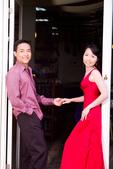 小汞&小夢婚紗照:外拍第二套--紅色晚禮服(合照三)