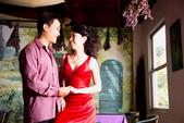 小汞&小夢婚紗照:外拍第二套--紅色晚禮服(合照五)