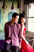 小汞&小夢婚紗照:外拍第二套--紅色晚禮服(合照六)