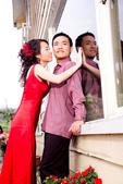 小汞&小夢婚紗照:外拍第二套--紅色晚禮服(合照八)