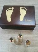 赤牛角臍帶印章、胎毛印章(對印組):嬰兒小三寶盒BABY腳丫+胎毛+臍帶-吉祥印舖胎毛筆.jpg