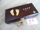 (作品集)肚臍章、胎毛筆、胎毛項鍊、胎毛印章、手鍊BABY金足印製做:嬰兒三寶盒-金足印