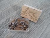 壓克力皂章、各種印模雕刻:腳踏車餅乾模