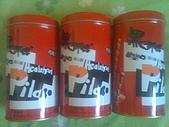 美食:我買兩罐巧克力,達買一罐奶酥、一罐巧克力