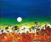 楚戈《以詩‧畫行走|楚戈現代詩全集》:楚戈作品〈山城夜月〉.jpg